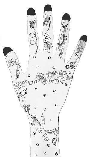 henna design - Mehndi Patterns Colouring Sheets
