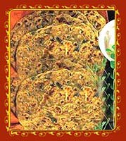 Whole wheat and fenugreek parathas