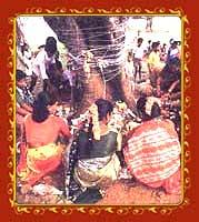 Women performing the Vat-Savitri Puja